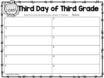 Back to School Third Day of Third Grade