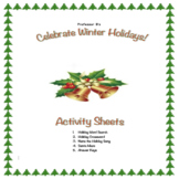 Celebrate the Winter Holidays! Middle School Activity Sheets