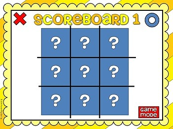 Freebie - Multiples Tic-Tac-Toe - PPT Game