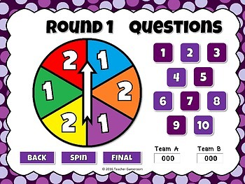 Freebie - Spin the Wheel Simplifying Fractions