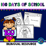 Celebrating 100 days of school (Spanish & English)