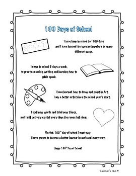 Celebrating 100th Day of School Fun Booklet