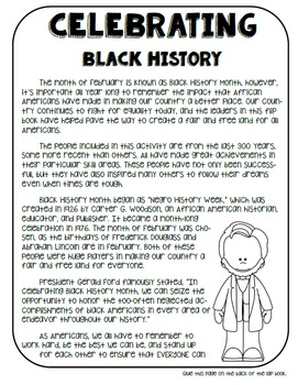 Celebrating African American History Interactive Lap Book: Non-Fiction Activity