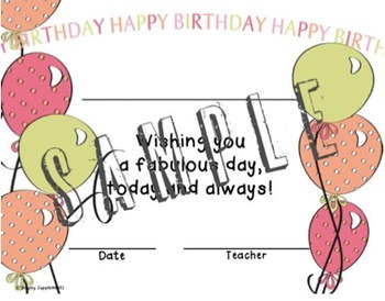 Birthday Certificates - All Grades - Boy and Girl
