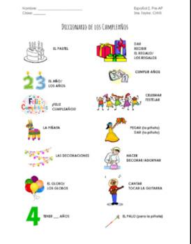 Celebrating Birthdays in Spanish/Cómo se celebran los cumpleaños