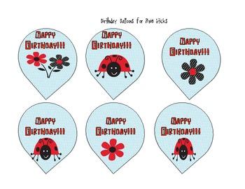 Celebrating Birthdays in the Classroom Kit- polka dot and ladybug theme