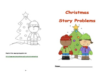 Celebrating Christmas with Word Problems Booklet