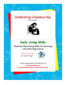Celebrating Columbus Day Mini Lesson--Daily Living Skills