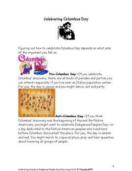 Celebrating Columbus Day and Indigenous Peoples Day Mini Lesson