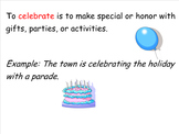 Celebrating Cultures Theme and Vocabulary Introduction