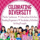 Celebrating Diversity Bundle for 10 Diverse Mentor Texts (Grades 3-5)