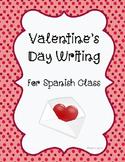Spanish Valentine's Day Writing- Dia de San Valentin Letter Writing
