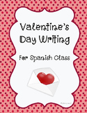 Spanish Valentine's Day Writing- Dia de San Valentin Letter Writing