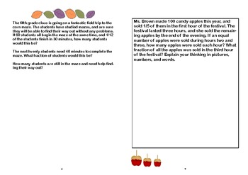 Celebrating Fall with Math Story Problems