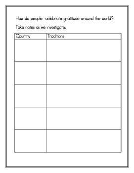 Celebrating Gratitude Packet with Teaching Resources
