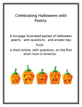 Celebrating Halloween with Poetry
