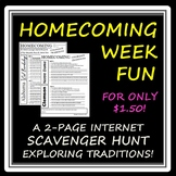 "Celebrating ""Homecoming Week"" -- An Internet Scavenger Hunt for High Schoolers!"