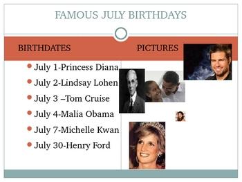 Celebrating July