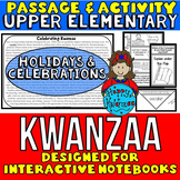 Kwanzaa: Passage and Questions: Interactive Notebook