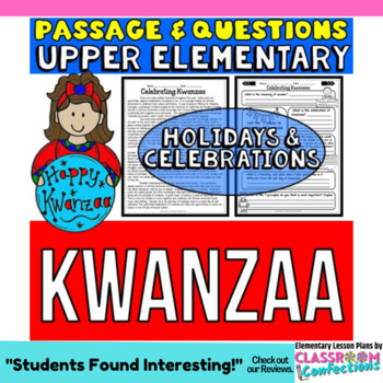 Kwanzaa: Passage and Questions: Reading Comprehension Activity