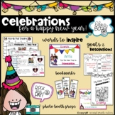 Celebrating New Year with resolutions, goals, photo props, banners & more!