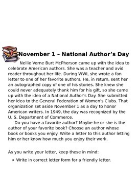 Celebrating November Activities