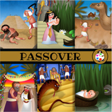 Celebrating Passover ClipArt Illustration Set