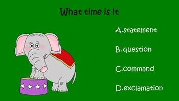 Celebrating Sentences PowerPoint Game Pack