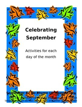 Celebrating September Activities