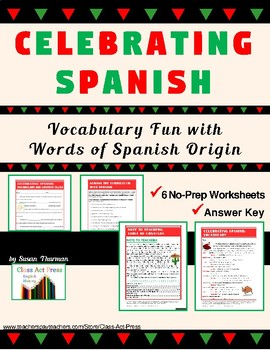 Vocabulary Activities: Common Spanish Words (4 Pages, Ans.