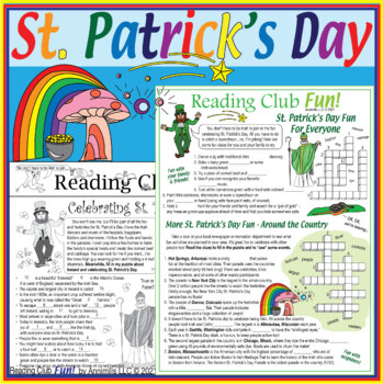 Celebrating St. Patrick's Day Two-Page Activity Set