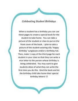 Celebrating Student Birthdays