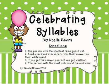 Celebrating Syllables