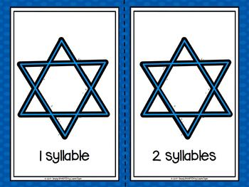 Celebrating Syllables:  LOW PREP Hanukkah Themed Syllable Sorting Activity