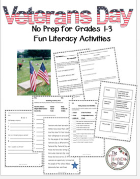 Veterans Day:Social Studies with Literacy Activities for Grades 1-3