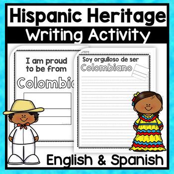 Celebrating Your Hispanic Heritage - A Bilingual Writing Activity