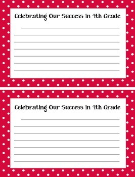 Celebrating our Success in 4th Grade - A Bulletin Board