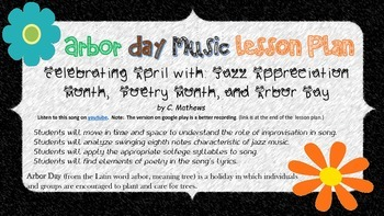 Arbor/Earth Day, Music, and Poetry