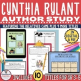 Cynthia Rylant Author Study for 10 Book Titles in PDF and