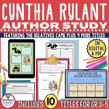 Cynthia Rylant Author Study Bundle in PDF and Digital Formats