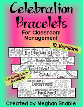 Celebration Bracelets for Classroom Management