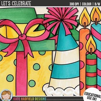 "Celebration Clip Art: ""Let's Celebrate!"""
