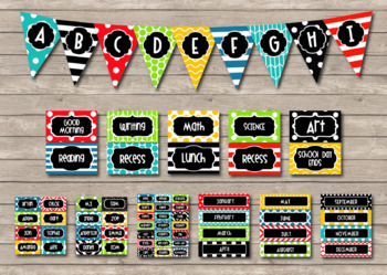 Celebration Colorful and Fun Editable Classroom Decor Package