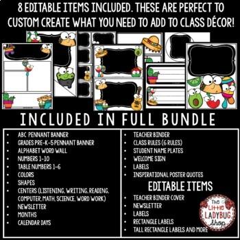 FIESTA Classroom Theme EDITABLE- Taco Bulletin Board - Taco 'Bout Me