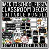 Fiesta Theme Classroom Decor: Newsletter Template Editable, Labels, Nametags