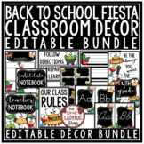 FIESTA Classroom Theme EDITABLE- Taco Bulletin Board - Tac
