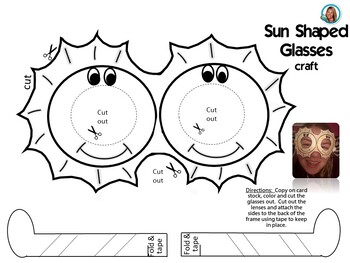 Summer Glasses BUNDLE Printables Fun Glasses for Class
