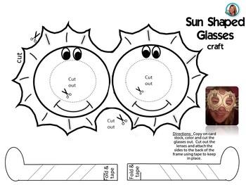Summer Glasses BUNDLE Printables Fun Glasses for Class