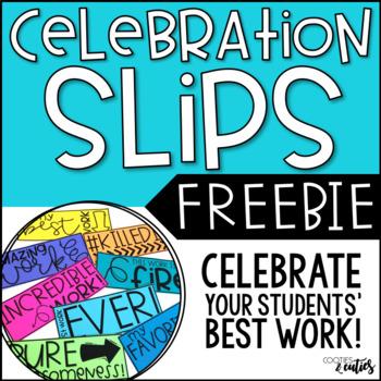 Celebration Slips | Student Work