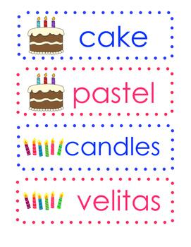Celebration Vocabulary Dual Language